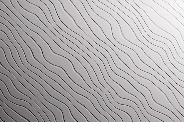 Textura de fundo cinza na moda com curvas de linhas de ondas diagonais