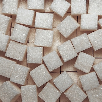 Textura de fundo de açúcar refinado