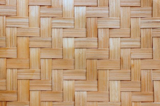 Textura de fundo de cesta de vime. fundo de bambu velho da textura do weave.