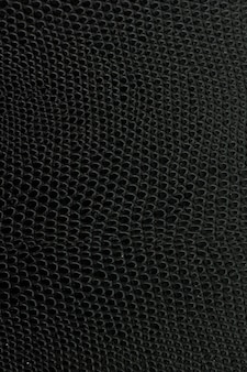 Textura de fundo de couro de cobra preta