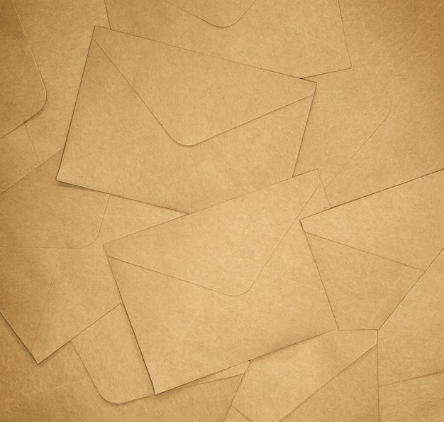 Textura de fundo de envelopes marrons