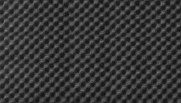Textura de fundo de espuma acústica de cor preta de som de estúdio
