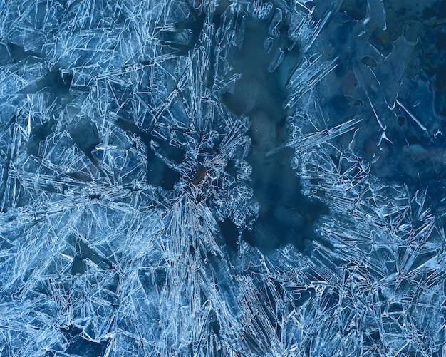 Textura de fundo de gelo congelado