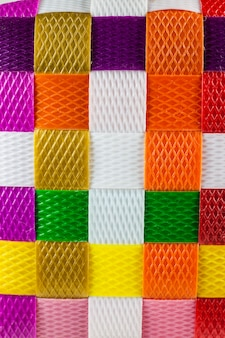 Textura de fundo de linha de plástico tecido