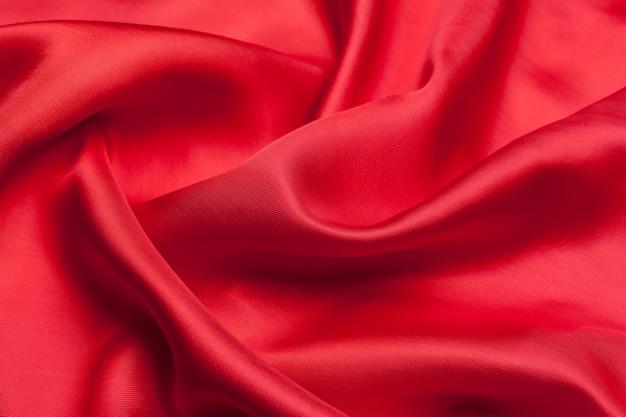Textura de fundo de ondas de pano vermelho