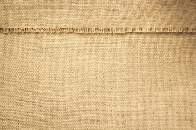 Textura de fundo de pano de saco de juta de serapilheira