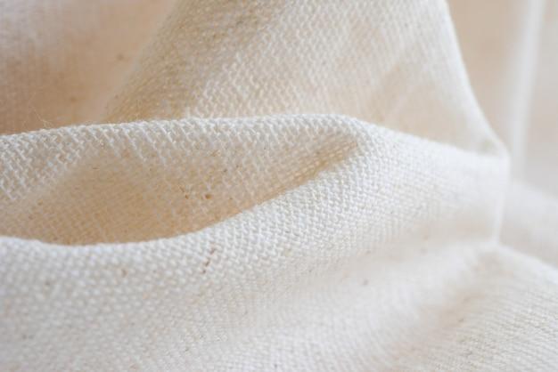 Textura de fundo de pano de tecido de chita branca