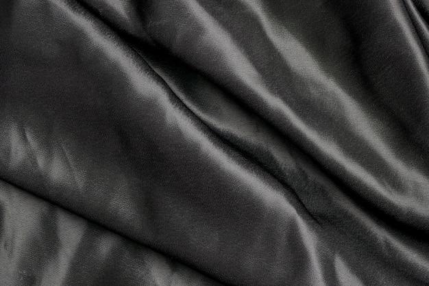 Textura de fundo de pano de tecido preto