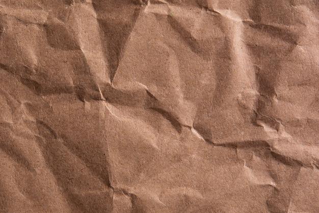 Textura de fundo de papel amarrotado marrom velho