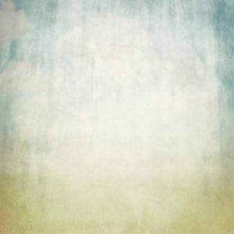Textura de fundo de papel marrom velho e vista do céu azul