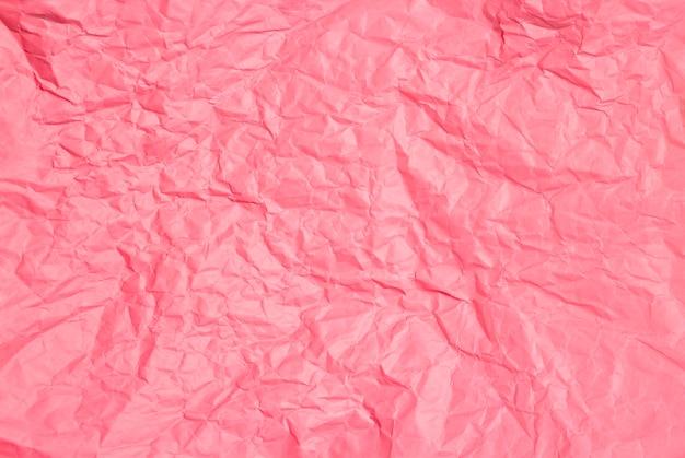 Textura de fundo de papel rosa amassado