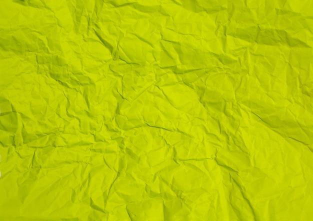 Textura de fundo de papel verde amassado