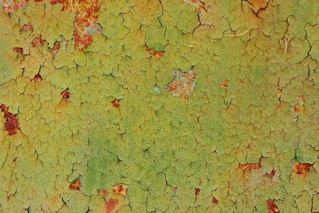 Textura de fundo de parede de ferro pintado vintage