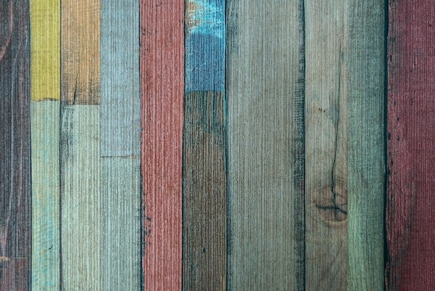 Textura de fundo de parede de madeira velha colorida vintage