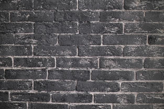 Textura de fundo de parede de tijolo cinza com detalhes brancos