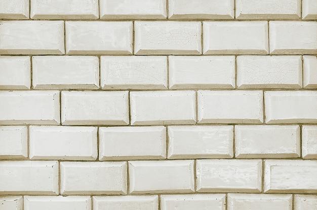 Textura de fundo de parede de tijolo de telha branca velha
