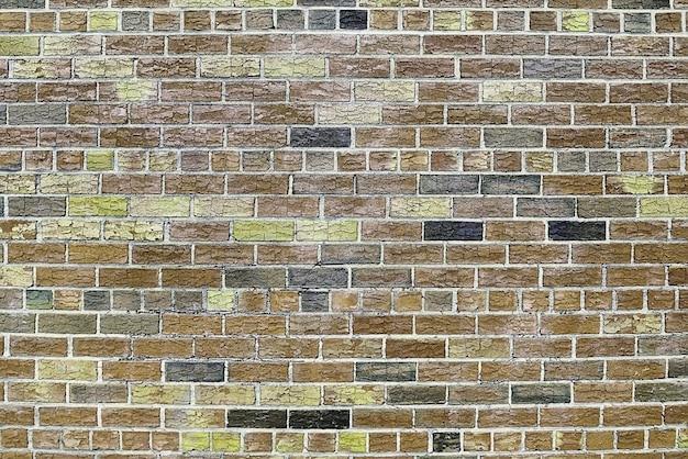 Textura de fundo de parede de tijolo vermelho velho