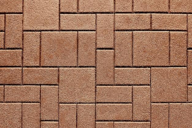 Textura de fundo de pavimento de pedra marrom