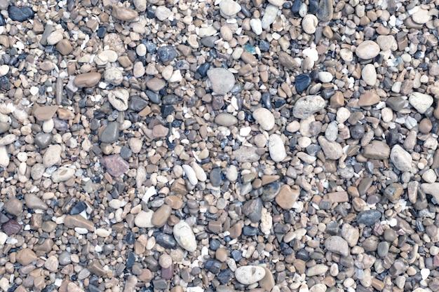 Textura de fundo de pedras do mar