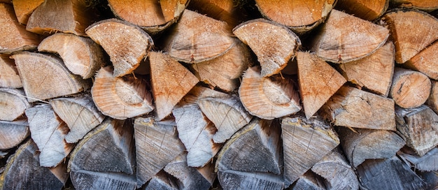 Textura de fundo de pilha de madeira.