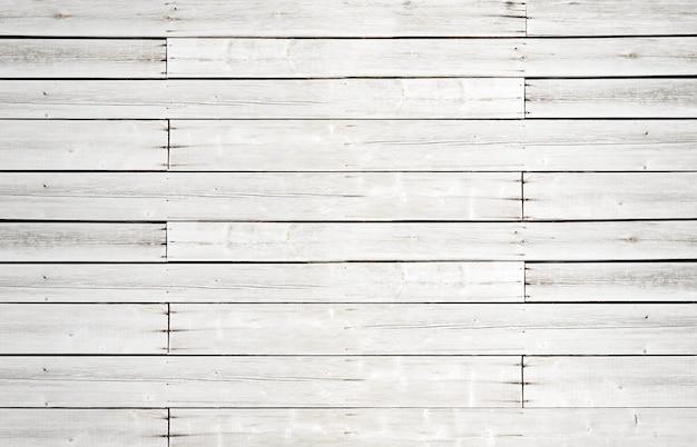 Textura de fundo de prancha de madeira branca velha