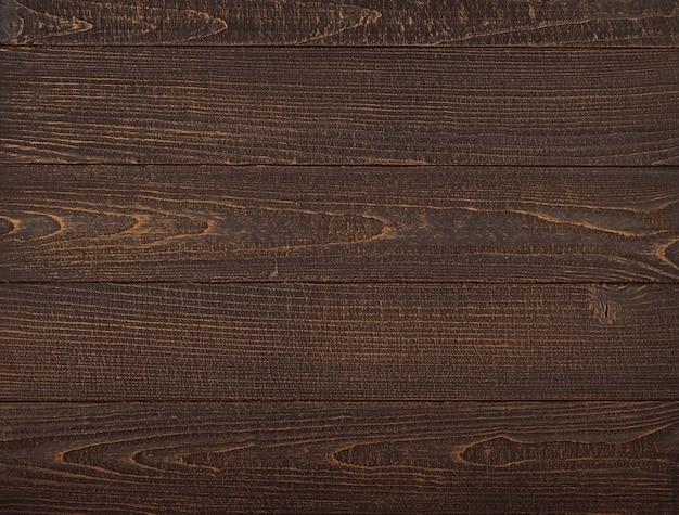 Textura de fundo de pranchas de madeira marrom vintage com riscos e manchas na superfície de madeira pintada