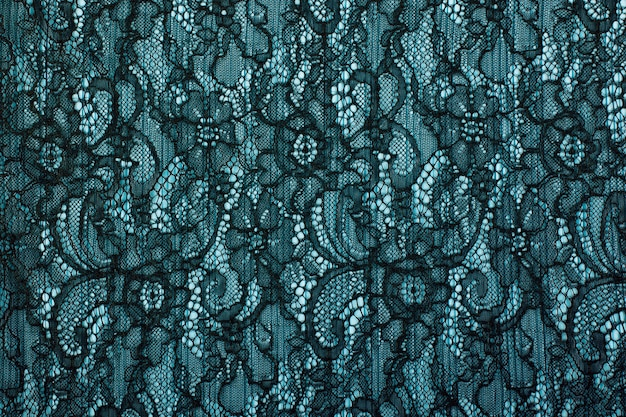 Textura de fundo de renda preta a céu aberto. guipura preta. tecido preto com ornamentos. fundo de renda preta com padrão com forma de flor