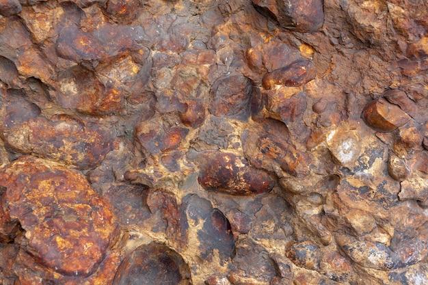 Textura de fundo feita de pedras unidas. imagem horizontal.