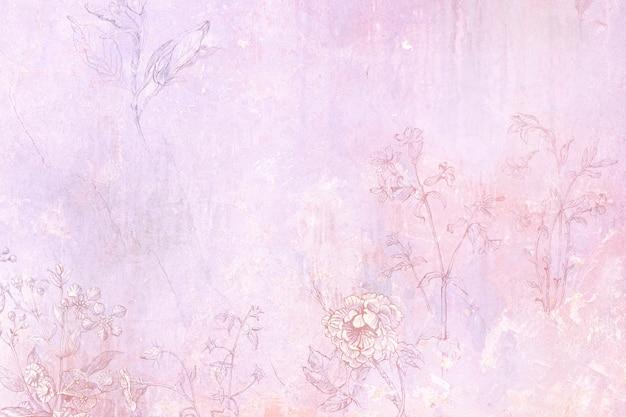 Textura de fundo floral sujo e antigo