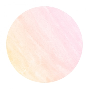Textura de fundo laranja quente mão desenhada moldura circular aquarela com manchas