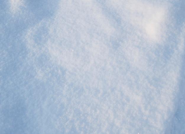 Textura de fundo limpa a neve brilhando no sol