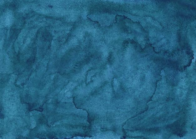 Textura de fundo líquido azul aquarela tinta. sobreposição de aquarela pintada à mão. manchas no papel.