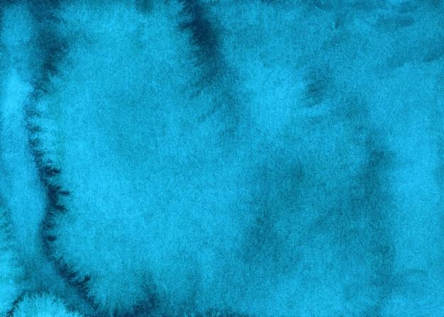 Textura de fundo líquido azul claro aquarela pintada à mão. pano de fundo abstrato azul turquesa aquarelle. manchas no papel.