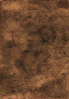 Textura de fundo marrom profundo em aquarela. aquarelle abstrato antigo cenário marrom chocolate escuro.