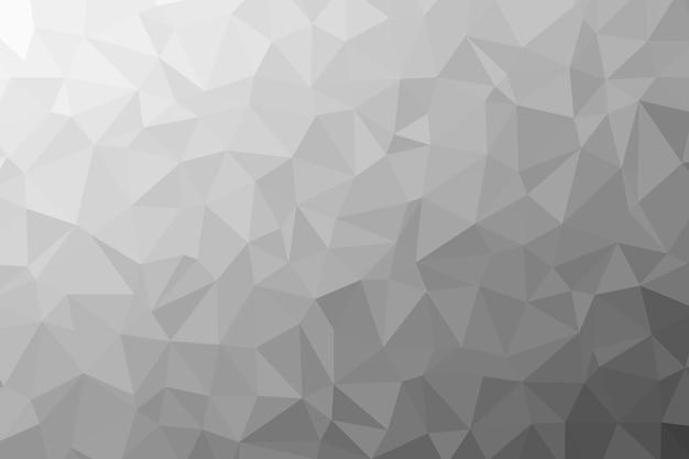 Textura de fundo poli baixa preto e branco abstrata. ilustração criativa poligonal do pano de fundo