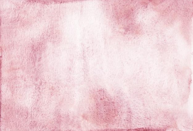 Textura de fundo rosa velho em aquarela. pano de fundo aquarela áspero, pintado à mão