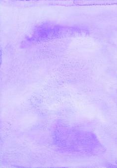 Textura de fundo roxo claro em aquarela. fundo de manchas de violeta pastel abstrato aquarelle. pintado à mão