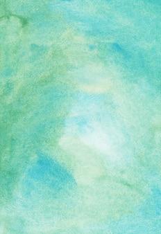 Textura de fundo verde e azul aquarela
