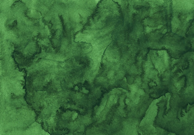 Textura de fundo verde profundo da aquarela. pano de fundo abstrato aquarelle. modelo horizontal.