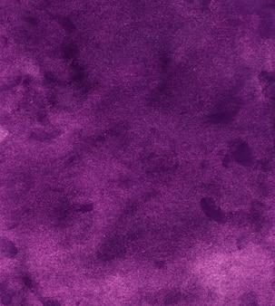 Textura de fundo violeta escuro aquarela. pano de fundo abstrato aquarela roxo profundo. pintado à mão