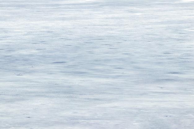Textura de gelo coberto de neve, fundo de inverno