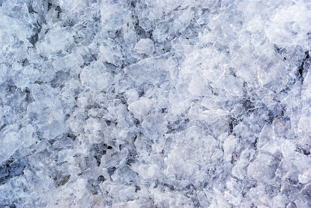 Textura de gelo quebrado
