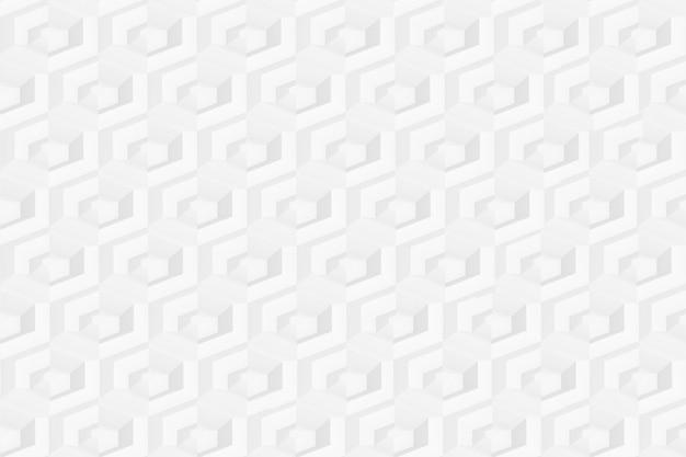 Textura de grade hexagonal tridimensional com células de diferentes profundidades
