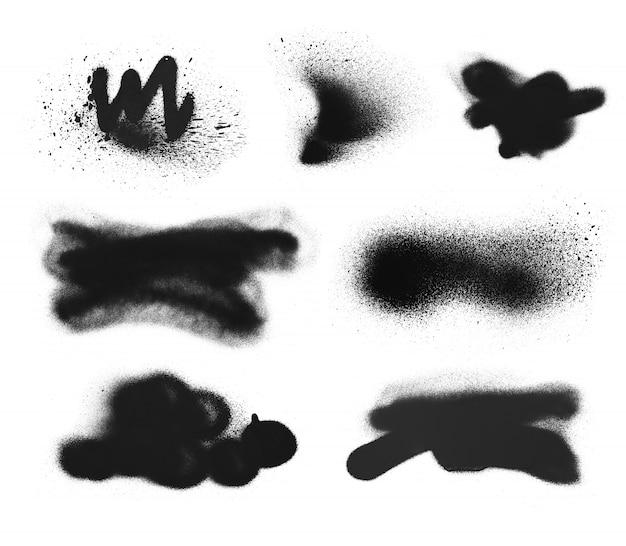 Textura de grafite de tinta spray simples à mão livre. grunge de elemento de tinta