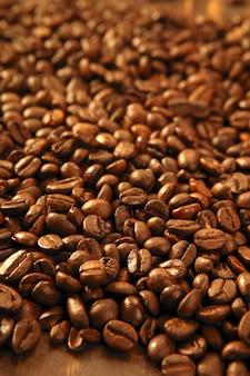 Textura de grãos de café torrado