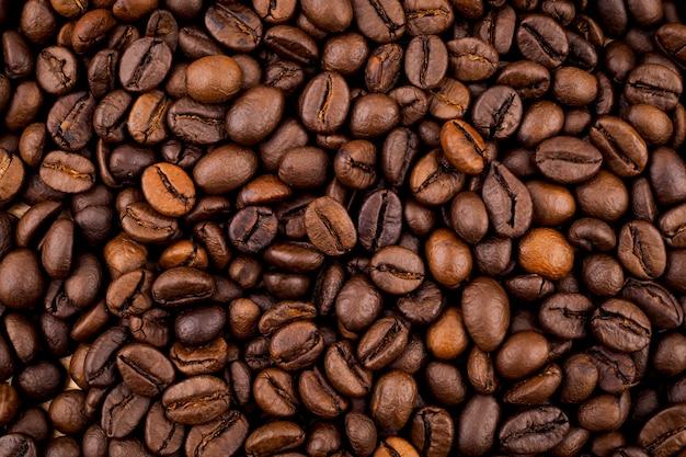 Textura de grãos de café torrados, usada como pano de fundo