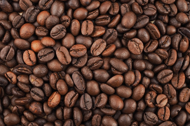 Textura de grãos de café torrados