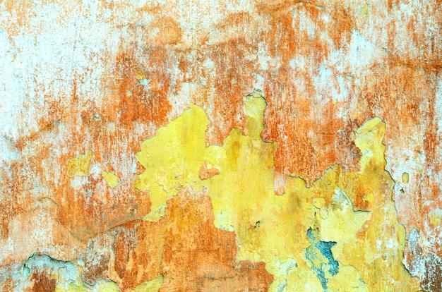 Textura de grunge gasto de uma parede de gesso revestido de estuque com muitas camadas de tinta