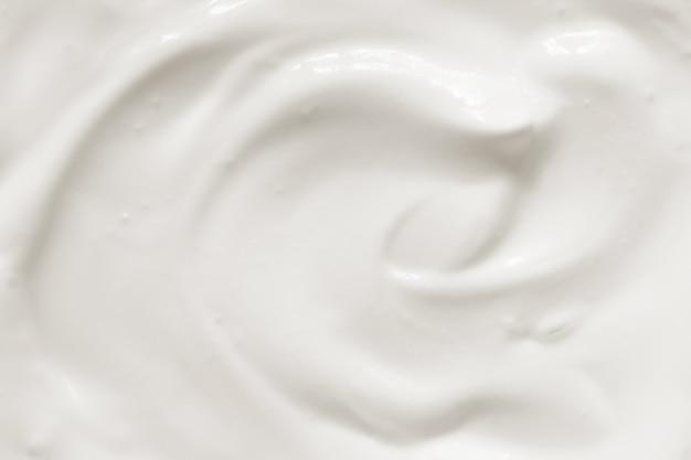 Textura de iogurte com creme de leite