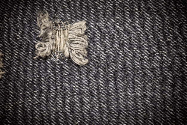 Textura de jeans rasgada vitage.